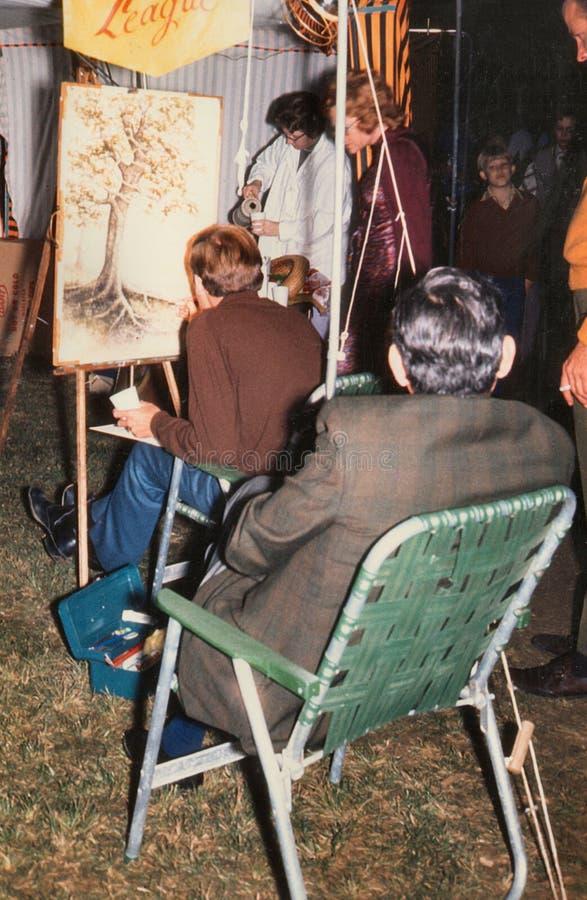 Kunstenaar In The Park - de Vrijheidspark van het Kunstenfestival stock fotografie