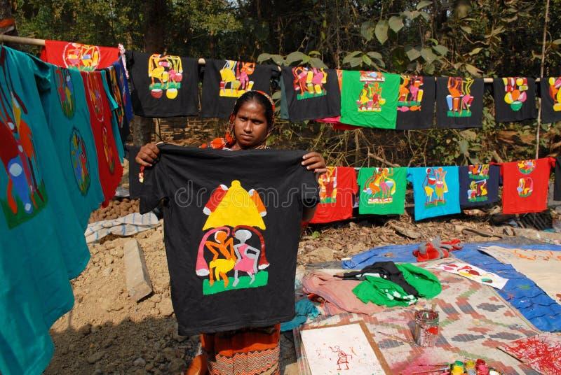 Kunstenaar Village Of India stock afbeeldingen