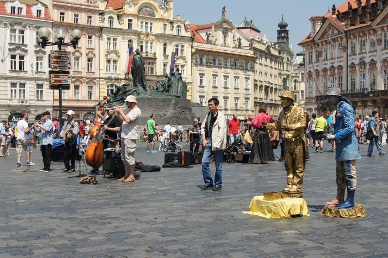 Kunstenaars en musici in het gebied royalty-vrije stock afbeelding