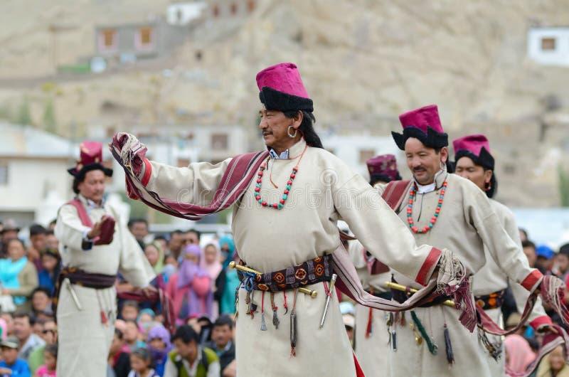 Kunstenaars op Festival van Erfenis Ladakh stock afbeeldingen