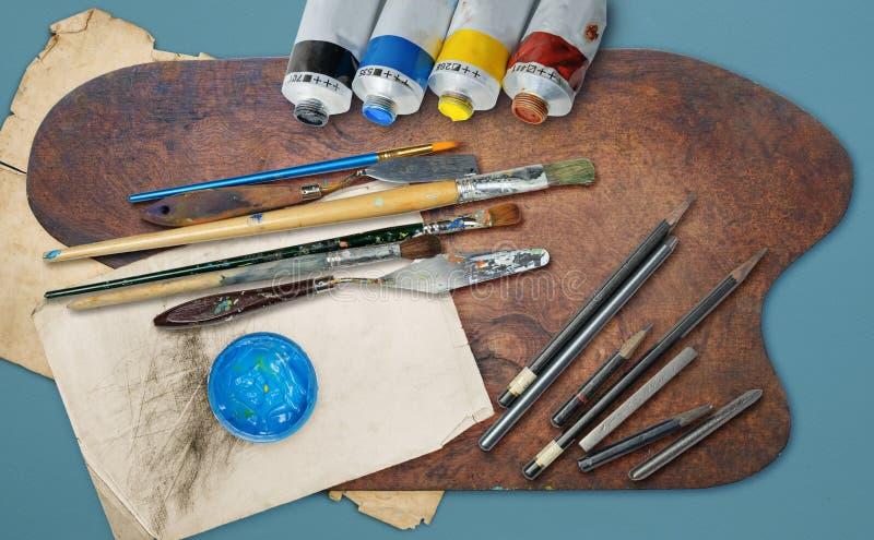 Kunstenaars` s Materiaal stock fotografie