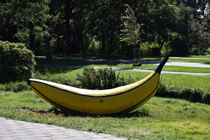 Kunstfruit, bananen, in Den Haag stock foto's