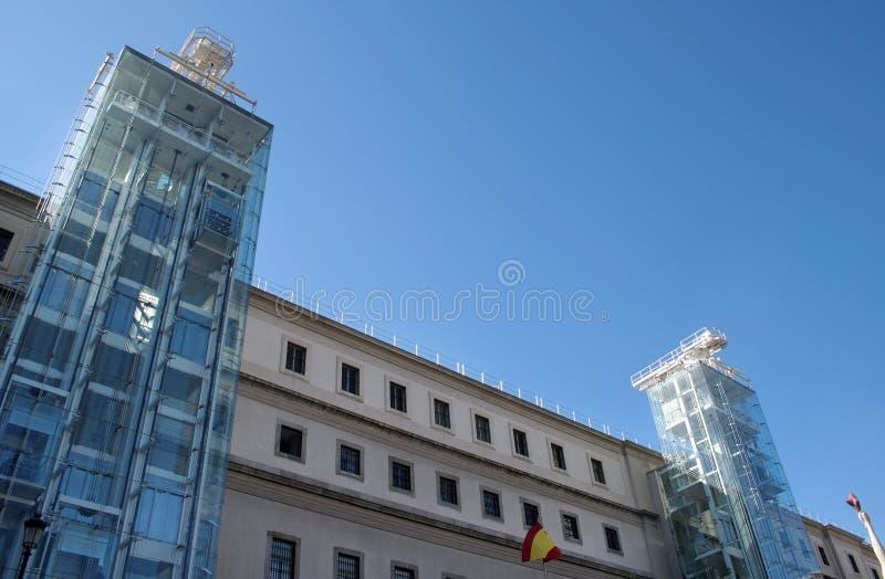 Kunstgalerie Madrid stockbilder