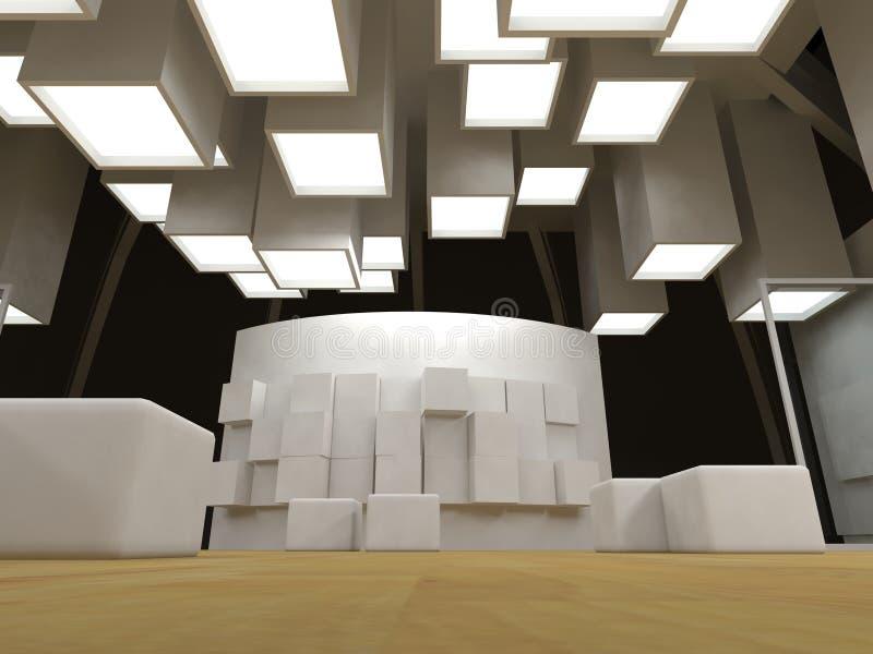 Kunstgalerie mit unbelegten Feldern lizenzfreie abbildung