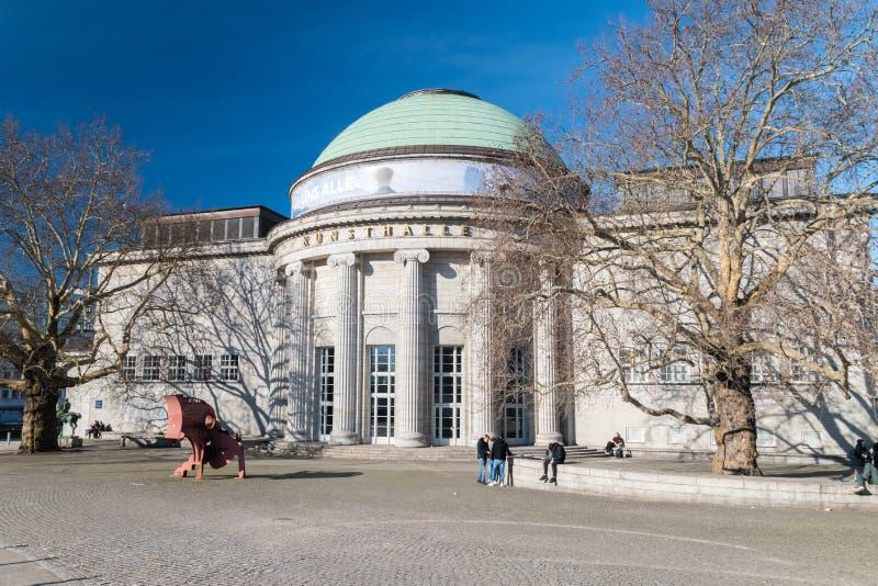 Kunsthalle muzeum sztuki Widok Kuppelsaal Hall aneks obrazy stock