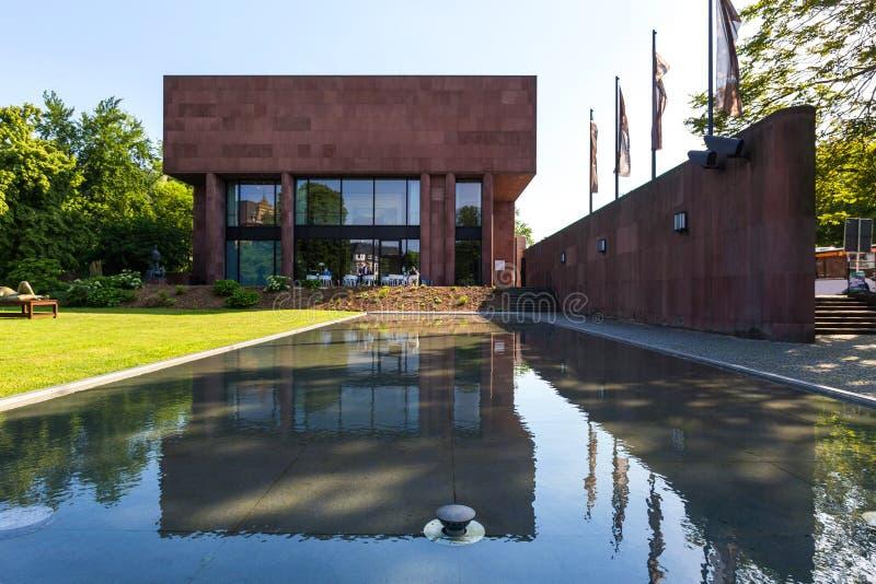 Kunsthalle que construye Bielefeld Alemania imágenes de archivo libres de regalías