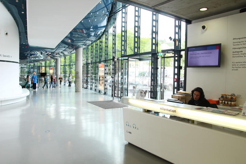 Kunsthaus museum stock photo