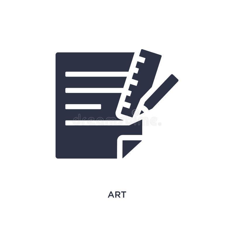 Kunstikone auf weißem Hintergrund Einfache Elementillustration vom Jobzusammenfassungskonzept lizenzfreie abbildung