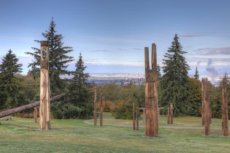 Kunstinstallation durch Nuburi Toko in Burnaby, Kanada lizenzfreies stockbild