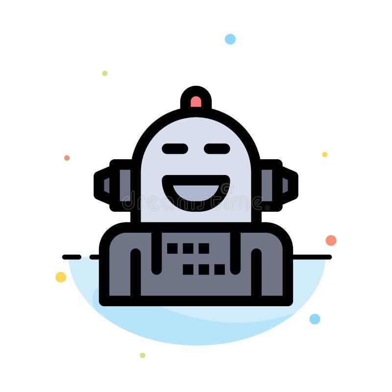 Kunstmatig Android, Emotie die, Emotioneel, het Abstracte Vlakke Malplaatje van het Kleurenpictogram voelen stock illustratie