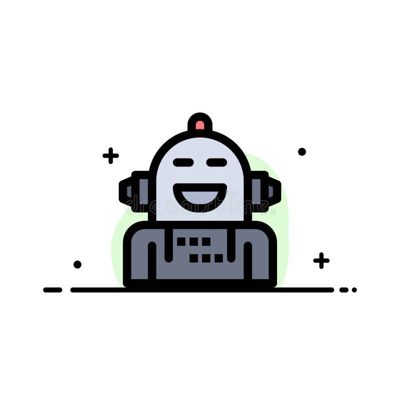 Kunstmatig Android, Emotie die, Emotioneel, Malplaatje van de Bedrijfs het Vlakke Lijn Gevulde Pictogram Vectorbanner voelen vector illustratie