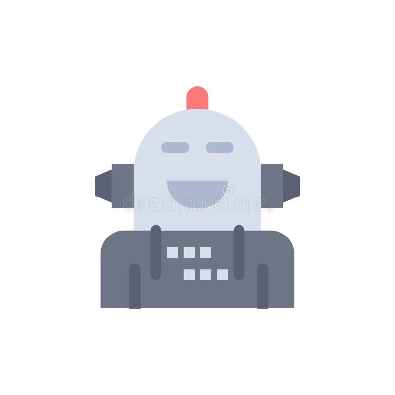 Kunstmatig Android, Emotie die, Emotioneel, Vlak Kleurenpictogram voelen Het vectormalplaatje van de pictogrambanner vector illustratie