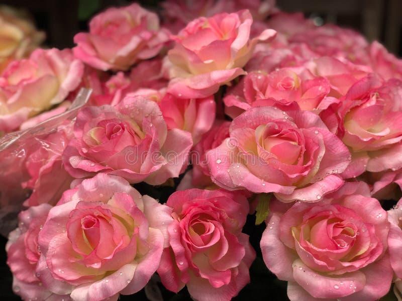 Kunstmatig plastic bloemboeket royalty-vrije stock afbeelding