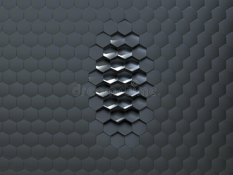 Kunstmatige hexagonale oppervlakte vector illustratie
