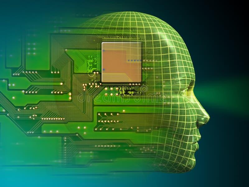 Kunstmatige intelligentie vector illustratie