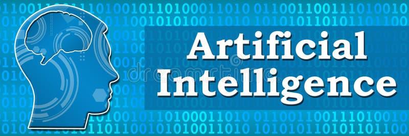 Kunstmatige intelligentie Binaire Hoofdbanner stock illustratie