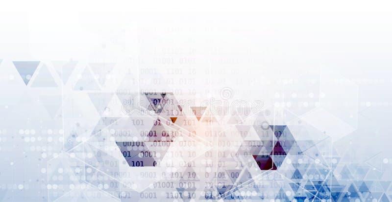 Kunstmatige intelligentie De achtergrond van het technologieweb Virtuele conc vector illustratie