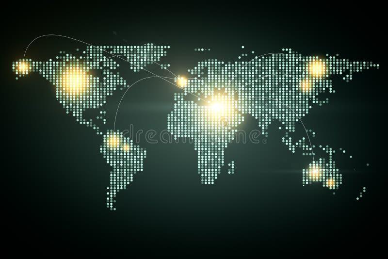 Kunstmatige intelligentie en wereldconcept royalty-vrije illustratie