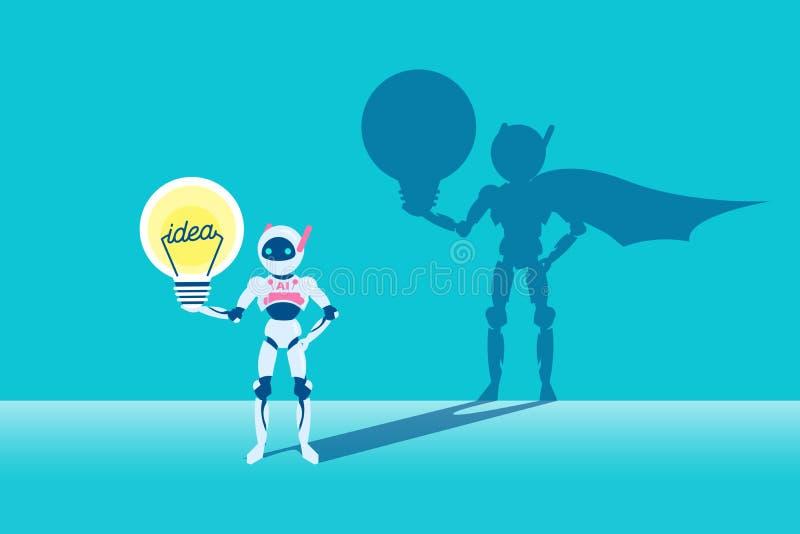 Kunstmatige intelligentie met bol vector illustratie