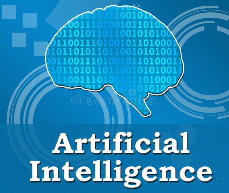Kunstmatige intelligentie Techy Vierkant Als achtergrond vector illustratie