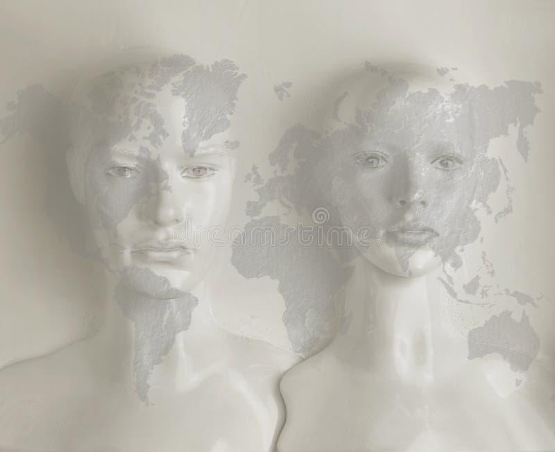 Kunstmatige intelligentieconcept - Internet, netwerk, globalizati royalty-vrije stock afbeeldingen
