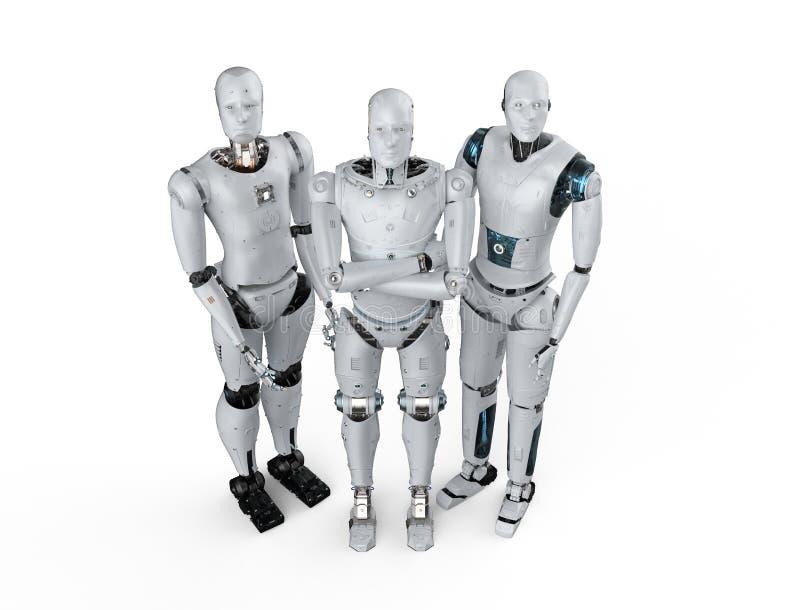 Kunstmatige intelligentiegroepswerk stock illustratie