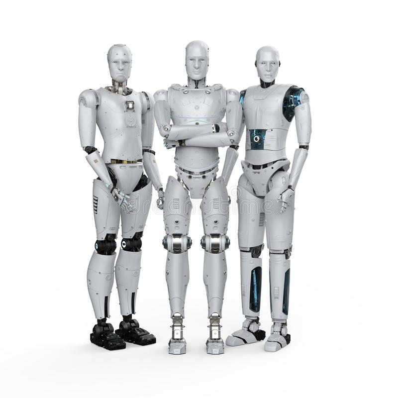 Kunstmatige intelligentiegroepswerk royalty-vrije illustratie
