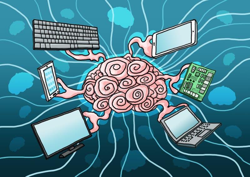 Kunstmatige intelligentieverf stock illustratie