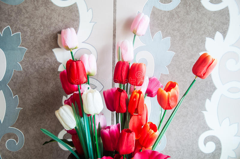 Kunstmatige tulpenbloem stock foto
