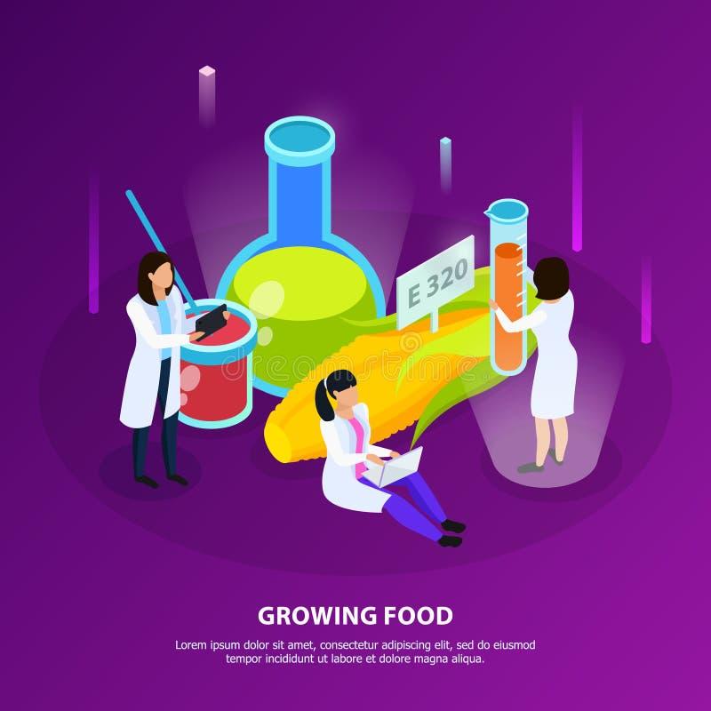 Kunstmatige Voedingsmiddelen Isometrische Achtergrond stock illustratie