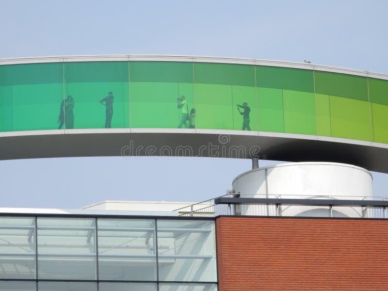 Kunstmuseum de ARoS Aarhus, Dinamarca foto de stock royalty free