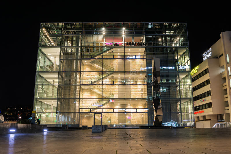 The Kunstmuseum Stuttgart is a contemporary and modern art museum in Stuttgart, Germany, built and opened in 2005 stock photography