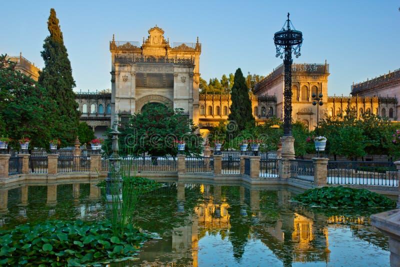 Kunstmuseum und Traditionen von Sevilla, Spanien lizenzfreie stockfotografie