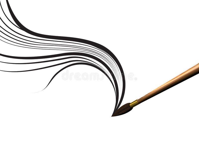 Kunstpinselanschlag vektor abbildung