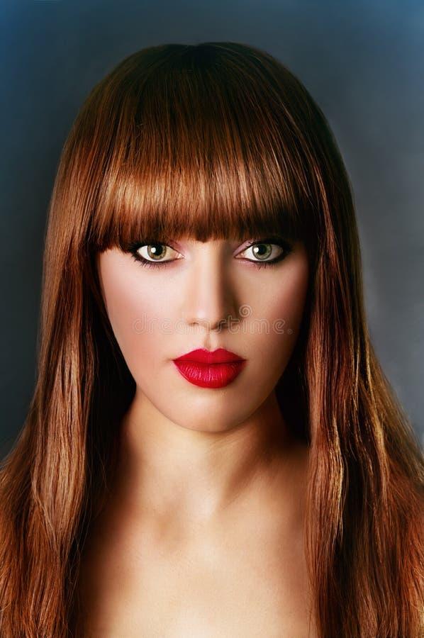 Kunstportret van een mooi meisje stock foto's