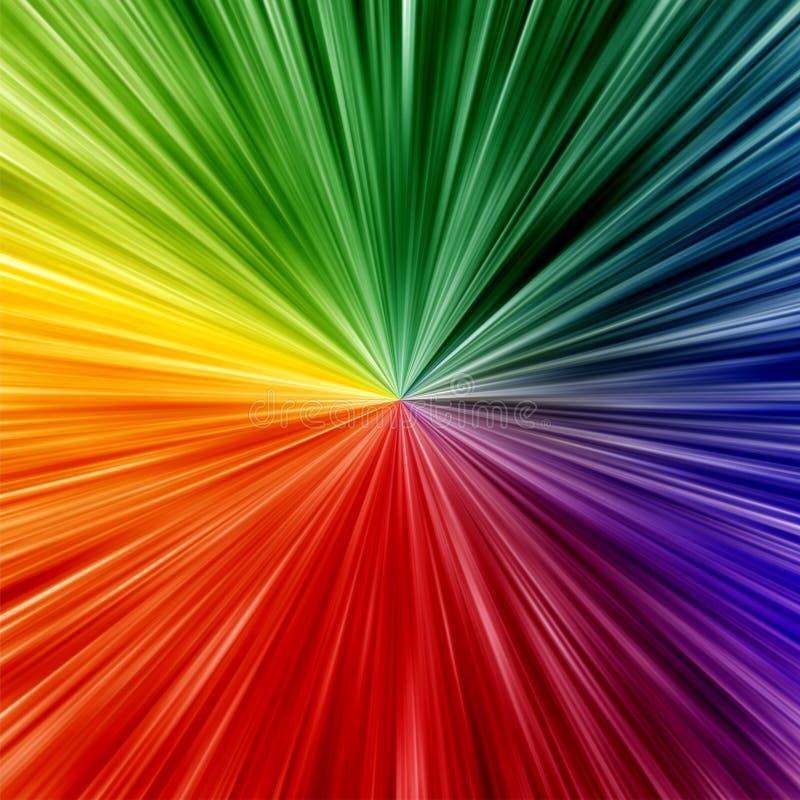 Kunstregenbogen färbt abstrakten Zoomhintergrund stock abbildung