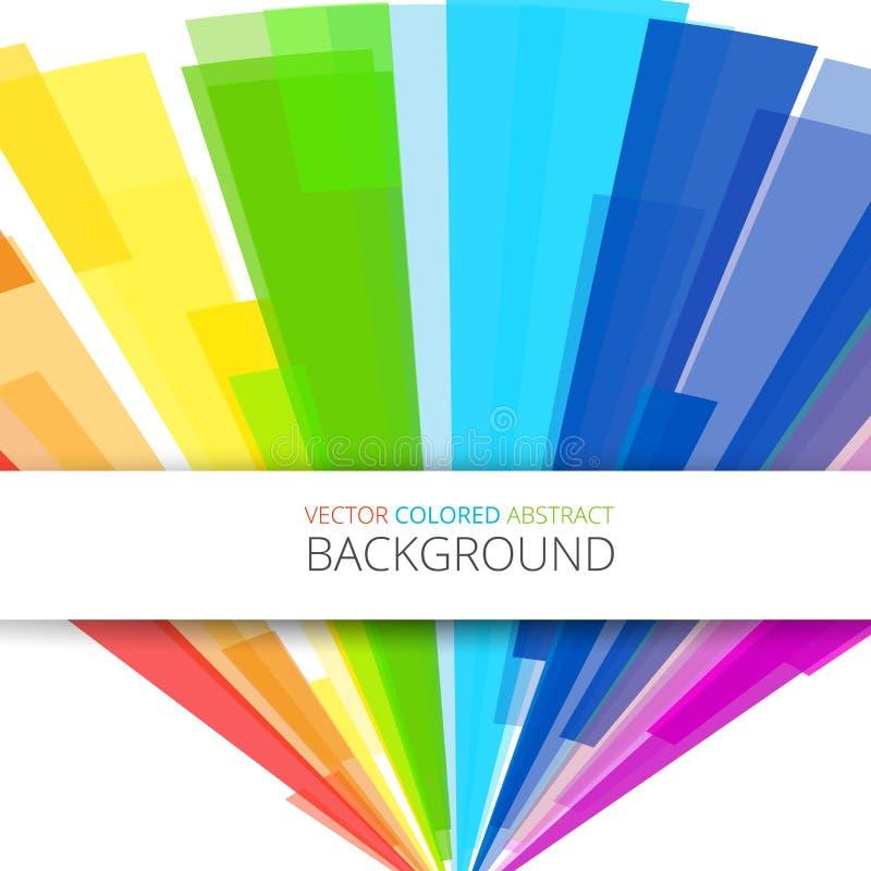 Kunstregenbogenzusammenfassungs-Vektorhintergrund lizenzfreie abbildung