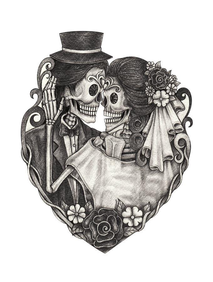Kunstschädeltag der Toten vektor abbildung