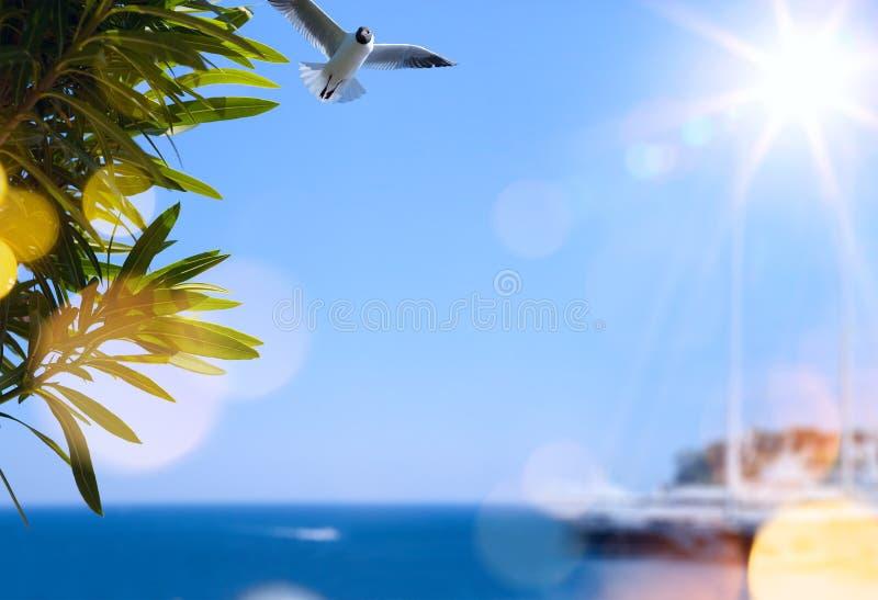 Kunstsommer-Reisehintergrund lizenzfreies stockfoto