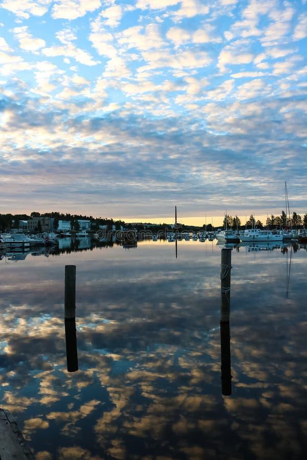 Kuopio hamn i sommar royaltyfri foto