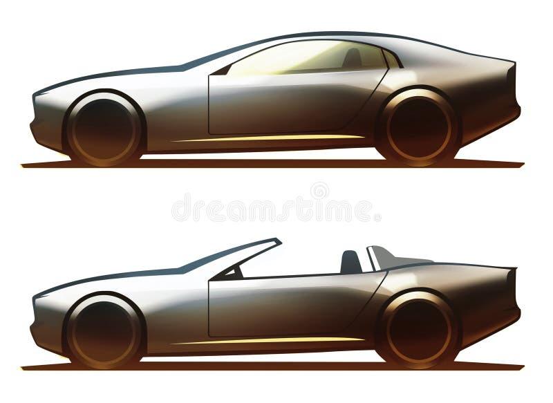 Kupé och roadster för bilkropp royaltyfri illustrationer