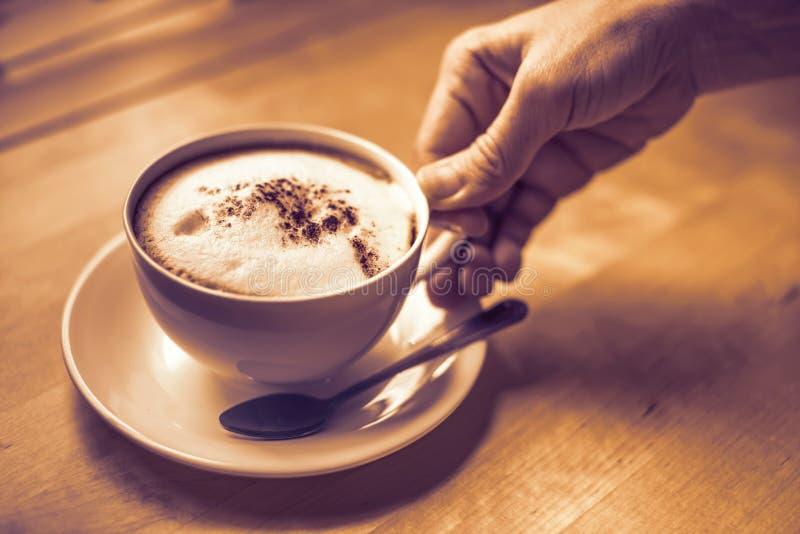 Kupa av cappuccino fotografering för bildbyråer