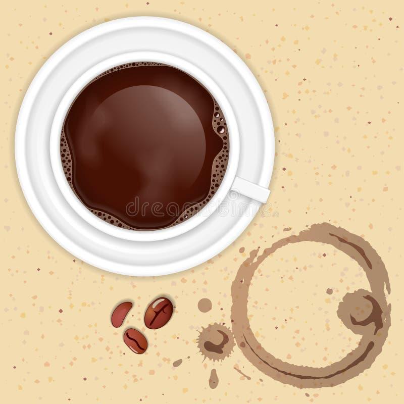 Kaffe kuper vektor illustrationer