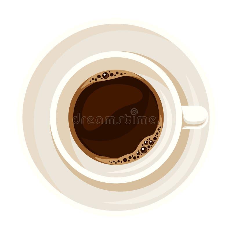 Kupa av kaffe också vektor för coreldrawillustration stock illustrationer