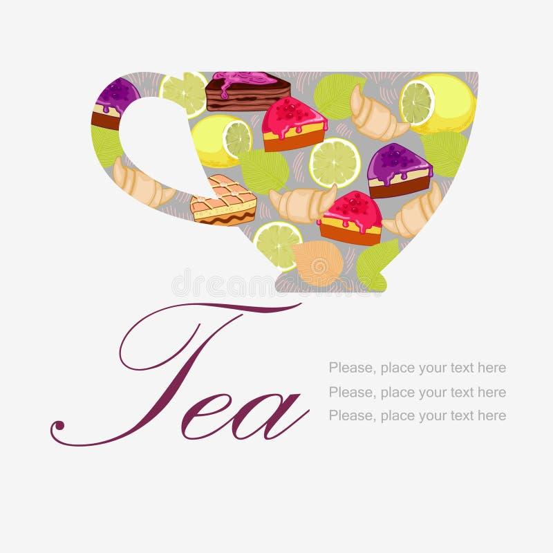 Kupa av Tea royaltyfri illustrationer