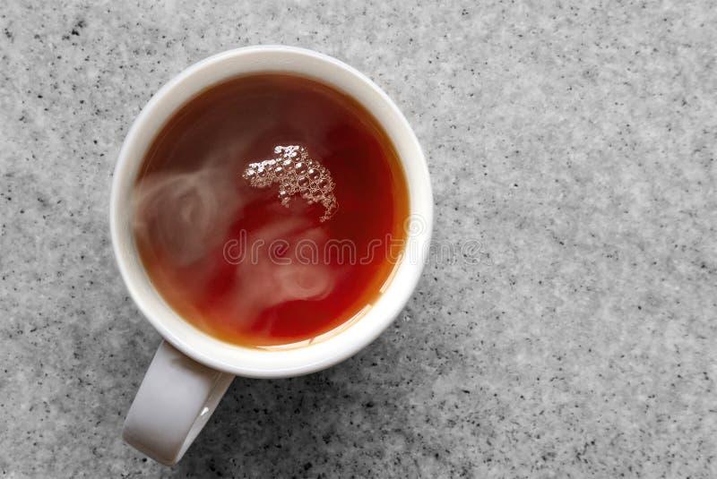 Kupa gorącej czarnej herbaty obraz stock