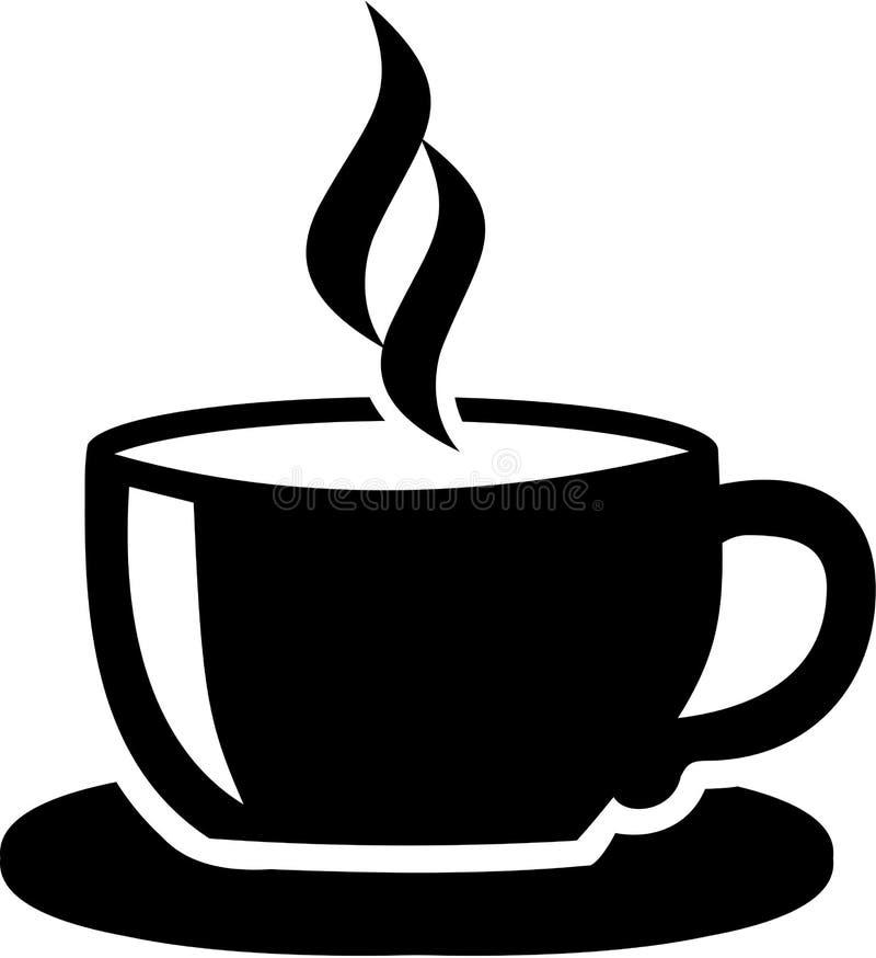 Kupa med kaffe vektor illustrationer