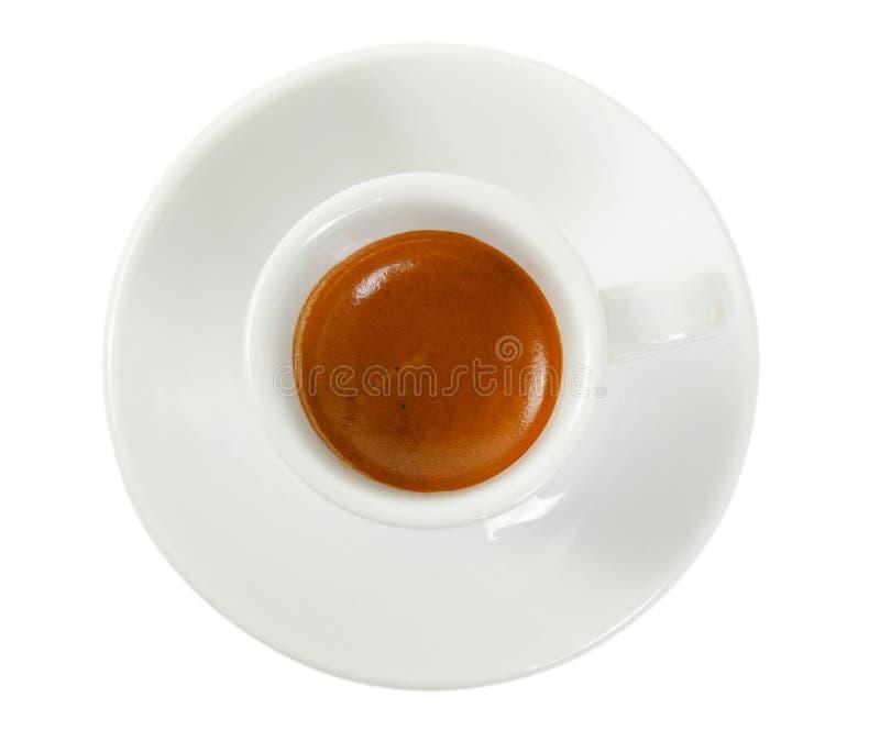 Kupa med kaffeespresso arkivfoto