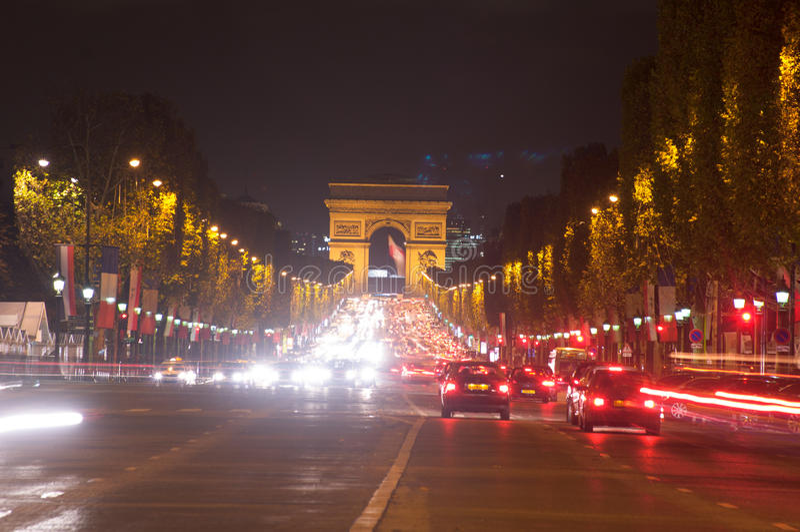 Kupczy w czempionów elysees, Paryż, Francja fotografia stock