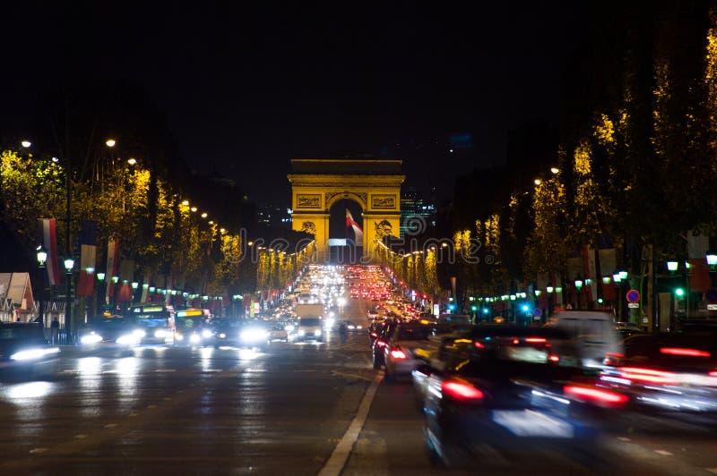 Kupczy w czempionów elysees, Paryż, Francja fotografia royalty free
